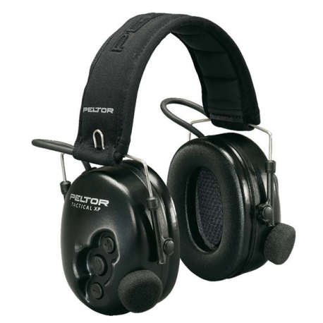 Peltor Tactical XP m/hodebøyle og Nexsusplugg