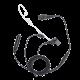 Hytera hodesett secret service m/ hånd-PTT sort til PD7/9-serien/PT580 EAN18